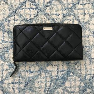 Kate Spade Lacey Gold Coast Quilted Leather Wallet